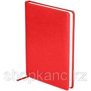 """Ежедневник датированный 2021г., A5, 176л., кожзам, OfficeSpace """"Nebraska"""", красный"""