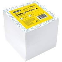 Блок для записи на склейке OfficeSpace, 8*8*8см, белый