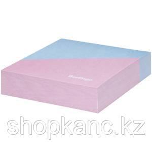 """Блок для записи декоративный на склейке Berlingo """"Haze"""" 8,5*8,5*2, розовый/голубой, 200л."""