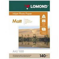 Фотобумага Lomond, матовая А4, 140 гр., 100 листов.