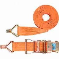 Ремень багажный с крюками, 0,05х6м, храповый механизм
