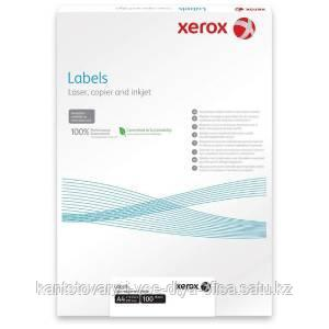 Самоклеящиеся этикетки, наклейки А4, XEROX, 70х29,7мм, 30 этикеток, 100 листов.