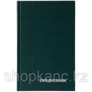 Ежедневник недатированный, A5, 160л., бумвинил, зеленый