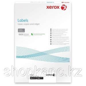 Самоклеящиеся этикетки, наклейки А4, XEROX, 70х27мм, 33 этикетки, 100 листов.