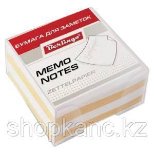 """Блок для записи """"Standard"""" 9*9*4,5 см, пластиковый бокс, цветной."""