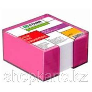Блок для заметок белый 9*9*5 в тон.СЛИВА пластбоксе ПВ76 СТАММ