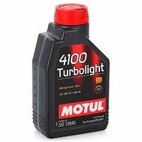 Моторное масло, MOTUL 4100 Turbolightl, 10W-40, 1 литр.