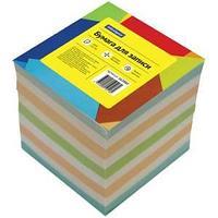 Блок для записи 9*9*9 см, цветной.