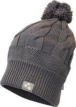 Вязаная детская шапка  Huppa ELSA, серый, размер S