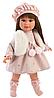 Кукла Llorens Лети 40 см., брюнетка в меховом жилете