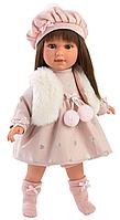 Кукла Llorens Лети 40 см., брюнетка в меховом жилете, фото 1