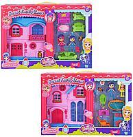 """Barmila: Игр.н-р """"Домик для мини-куклы"""" с 2 куклами, в ассортименте, розовый"""