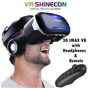 Комплект для виртуальной реальности 3D-очки с наушниками + bluetooth пульт VR Shinecon S-Max