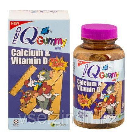 Детский жевательный кальций с витамином Д One QGummy, 50 шт