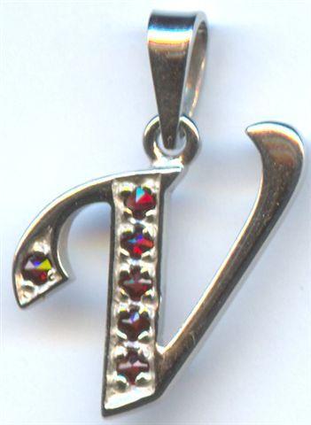 Кулон из серебра с природным богемским гранатом