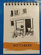 Скетчбук для зарисовок,А5  148х210 мм, 35 листов, 120 грамм