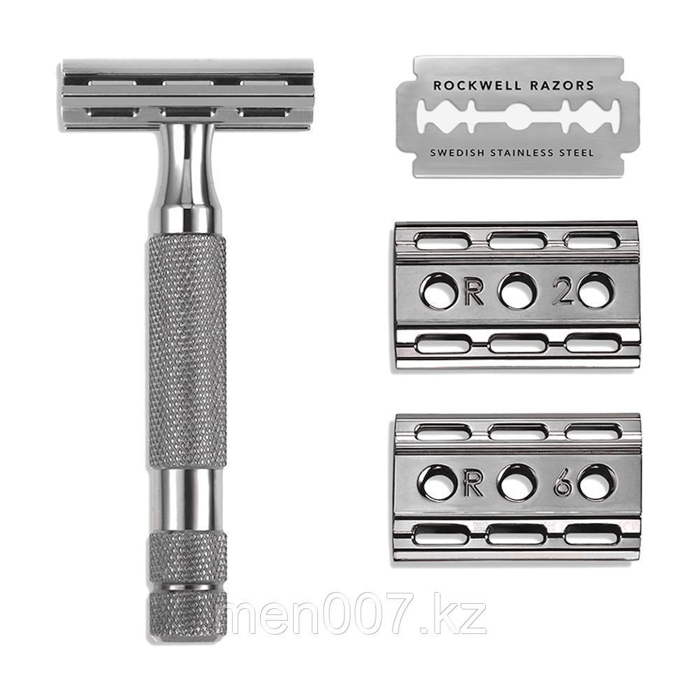 6C Gunmetal Rockwell Razor (двусторонняя бритва оружейная сталь)