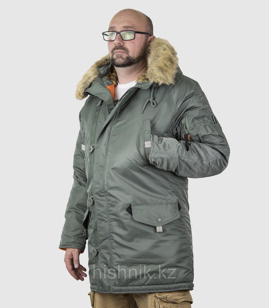 Куртка мужская HUSKY LONG OLIVE/ORANGE