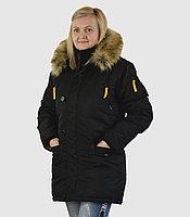 Куртка женская HUSKY WOMAN'S BLACK/YELLOW, фото 1