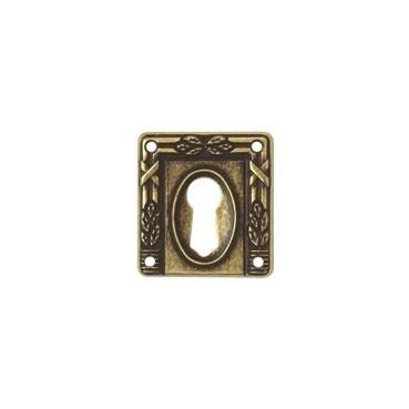 Ключевина *Art Nouveau*, 33х35мм, латунь пат