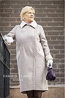 Женское пальто весна-осень, замша. Цвет молочный