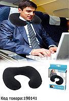 Подушка подголовник надувная для шеи Intex 68675 (36* 30* 10 см)