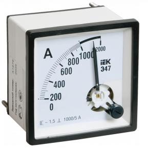 Амперметр Э47 300/5А кл. точн. 1,5 72х72мм ИЭК