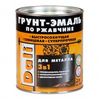 Грунт-эмаль по ржавчине 3 в 1 DALI коричневая