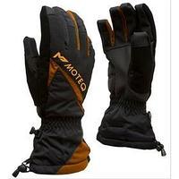 Зимние перчатки СНЕЖОК чёрный, оранжевый, L