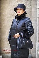 Зимнее женское пальто (темно-синий)