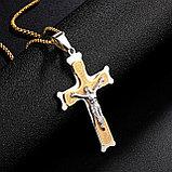 """Кулон-крестик  """"Крест"""" комбинированный, фото 5"""