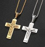 """Кулон-крестик  """"Крест Cross"""" стальной, фото 2"""