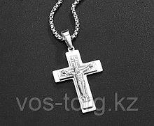 "Кулон-крестик  ""Крест Cross"" стальной"