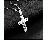 """Кулон-крестик  """"Крест Cross"""" стальной, фото 3"""