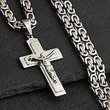 """Кулон-крестик  """"Крест Cross"""" стальной, фото 5"""