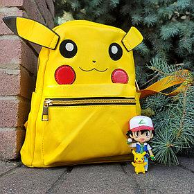 Кожзамовый рюкзак Пикачу