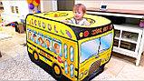 """Палатка игровая """"школьный автобус"""" размер 72Х72Х112см, фото 3"""
