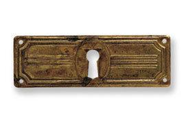 Ключевина *Jugendstil*, 97х34мм, латунь пат.