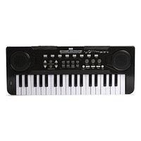 Детский синтезатор Zhorya с микрофоном 37 клавиш черный