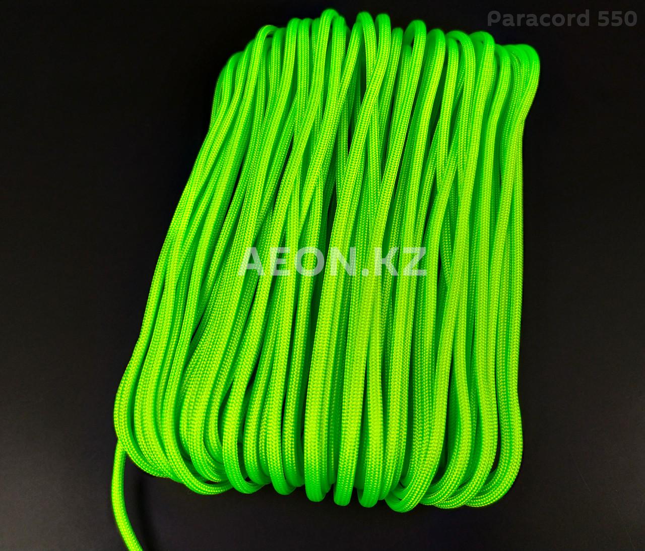 Паракорд 550 зеленый флуоресцентный