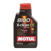 Моторное масло, MOTUL 8100 X-clean FE, 5W-30, 1 литр.
