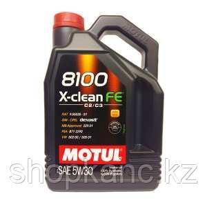 Моторное масло, MOTUL 8100 X-clean FE, 5W-30, 4 литр.