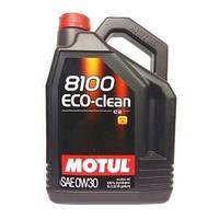 Моторное масло, MOTUL 8100 Eco-clean, 0W-30, 5 литр.