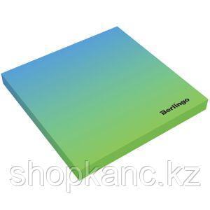 """Самоклеящийся блок Berlingo """"Ultra Sticky.Radiance"""",75*75мм,50л, голубой/зеленый градиент,европодвес"""