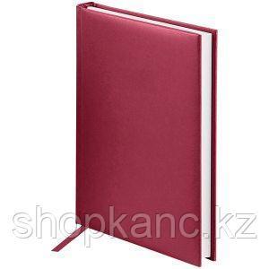 Ежедневник недатированный А5 160 л, Ariane, балакрон, бордовый.