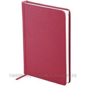 Ежедневник недатированный А5 160 л, Reptile, кожзам, бордовый.