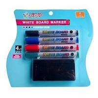 Набор губка и 4 маркера, для маркерной доски.