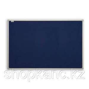 Доска текстильная голубая в алюминиевой рамке ALC 150*100 см.