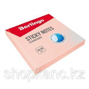 Самоклеящийся блок Стандарт 76*76 мм, 100 л, розовый.