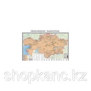 Карта  Ж/д РК 1:2,5 млн  ( ламин )